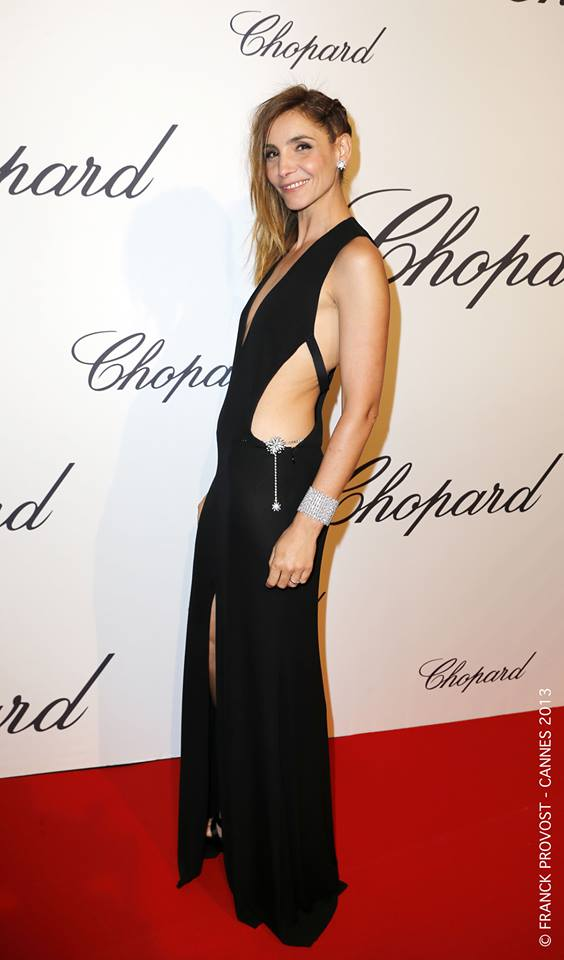 16.05.2013 - Cannes 66 - Trophee Chopard - Clotilde Courau - Makeup hair Massimo Serini