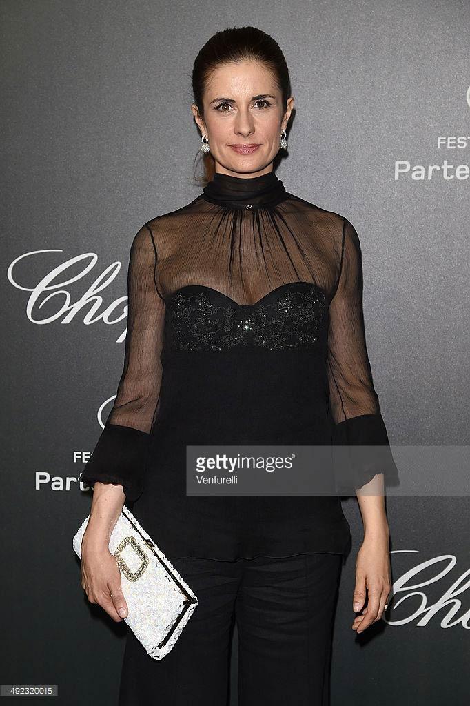 19.05.2014 - Cannes 67 - Chopard backstage dinner - Livia Firth - Makeup hair Massimo Serini