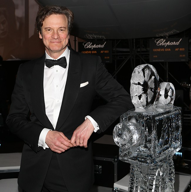 19.05.2014 - Cannes 67 - Chopard backstage dinner - Colin Firth - Grooming Massimo Serini