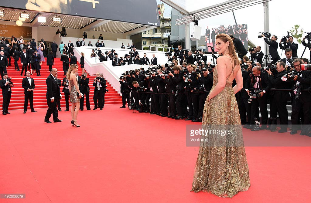 21.05.2014 - Cannes 67 - The Search premiere - Clotilde Courau - Makeup hair Massimo Serini - Dress Valentino