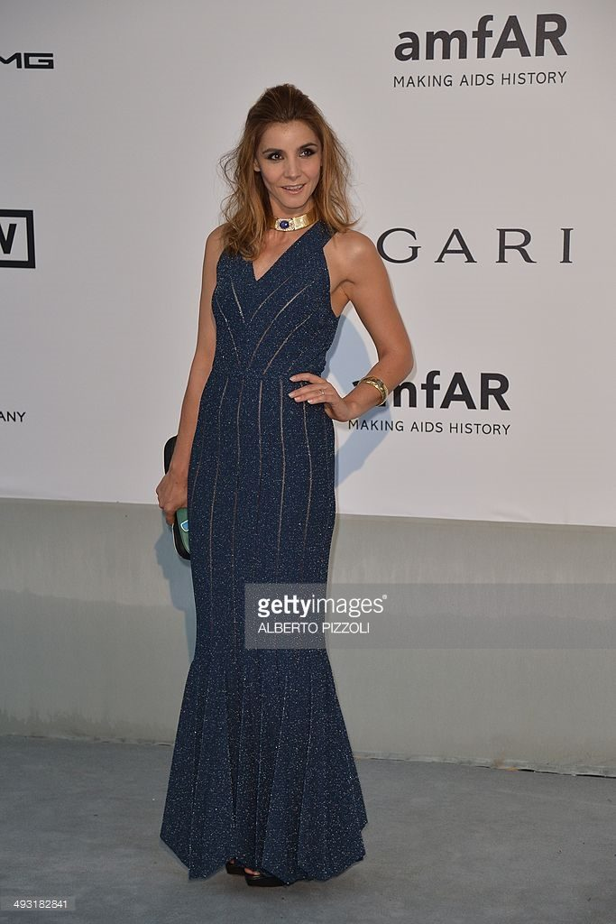22.05.2014 - Cannes 67 amfAR - Clotilde Courau - Makeup hair Massimo Serini