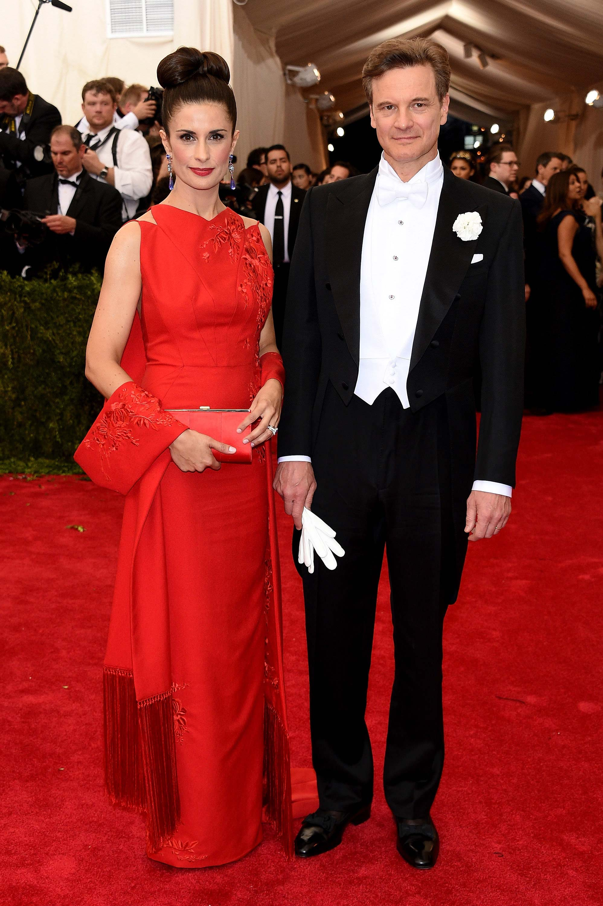 04.05.2015 - Met Gala - Colin and Livia Firth - Makeup hair Massimo Serini