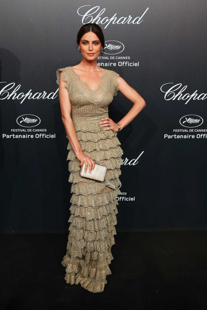 18.05.2015 - Cannes 68 - Chopard Gold Party - Catrinel Marlon - Makeup hair Massimo Serini