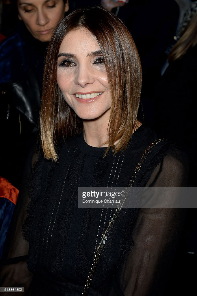 05.03.2016 - PFW fw16 Elie Saab - Clotilde Courau - Makeup hair Massimo Serini