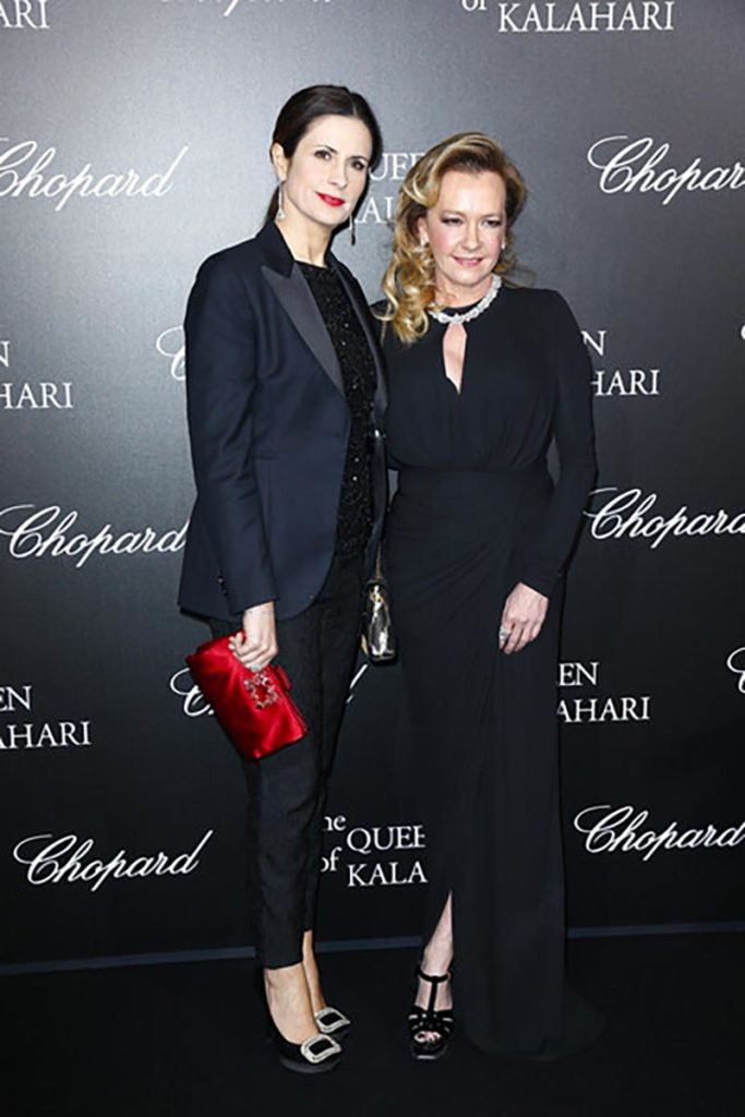 21.01.2017 - Chopard The Garden of Kalahari presenting - Caroline Scheufele, Livia Firth - Makeup hair Massimo Serini