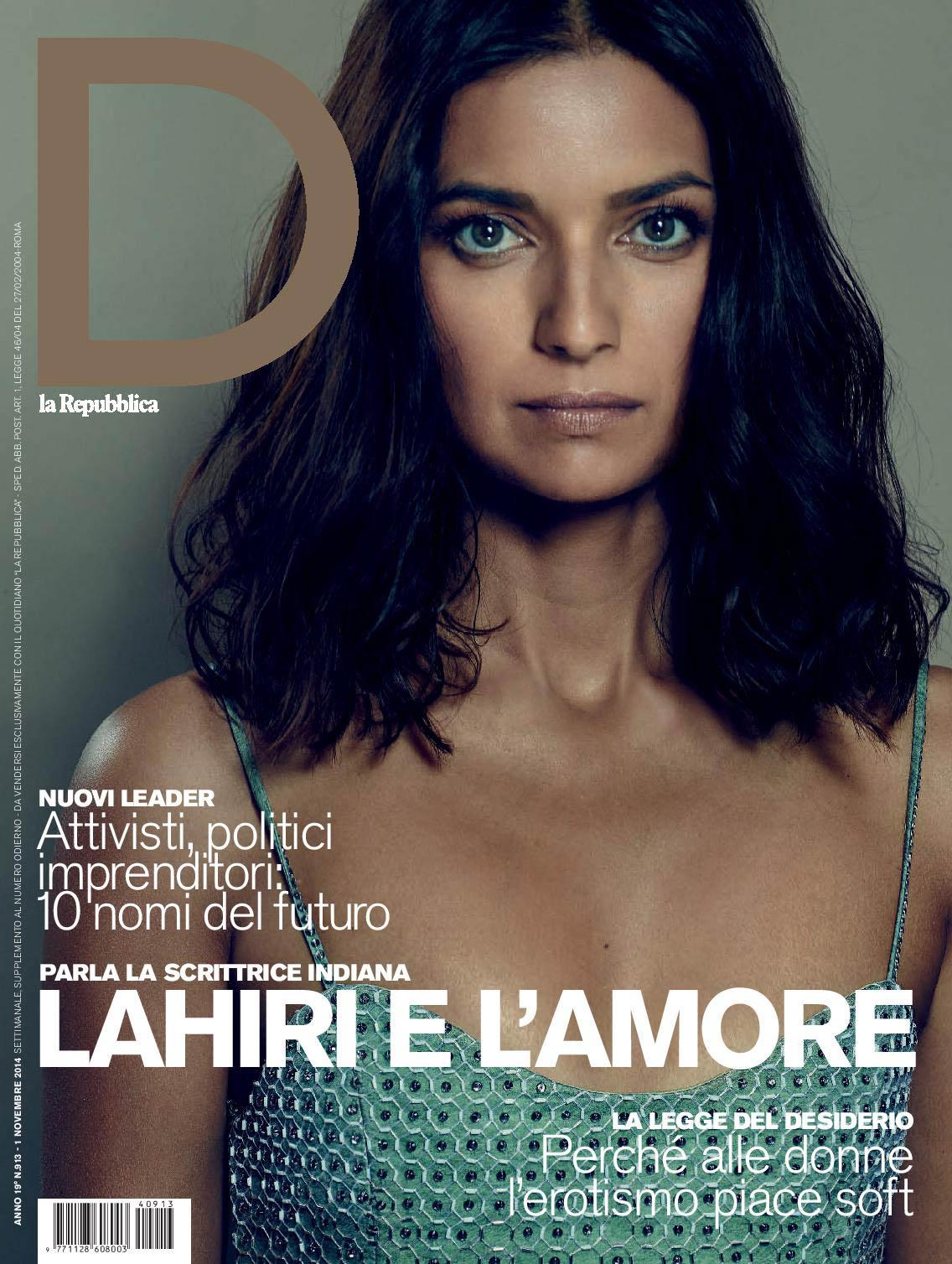 01.11.2014 - D la Repubblica - Jhumpa Lahiri - Makeup hair Massimo Serini