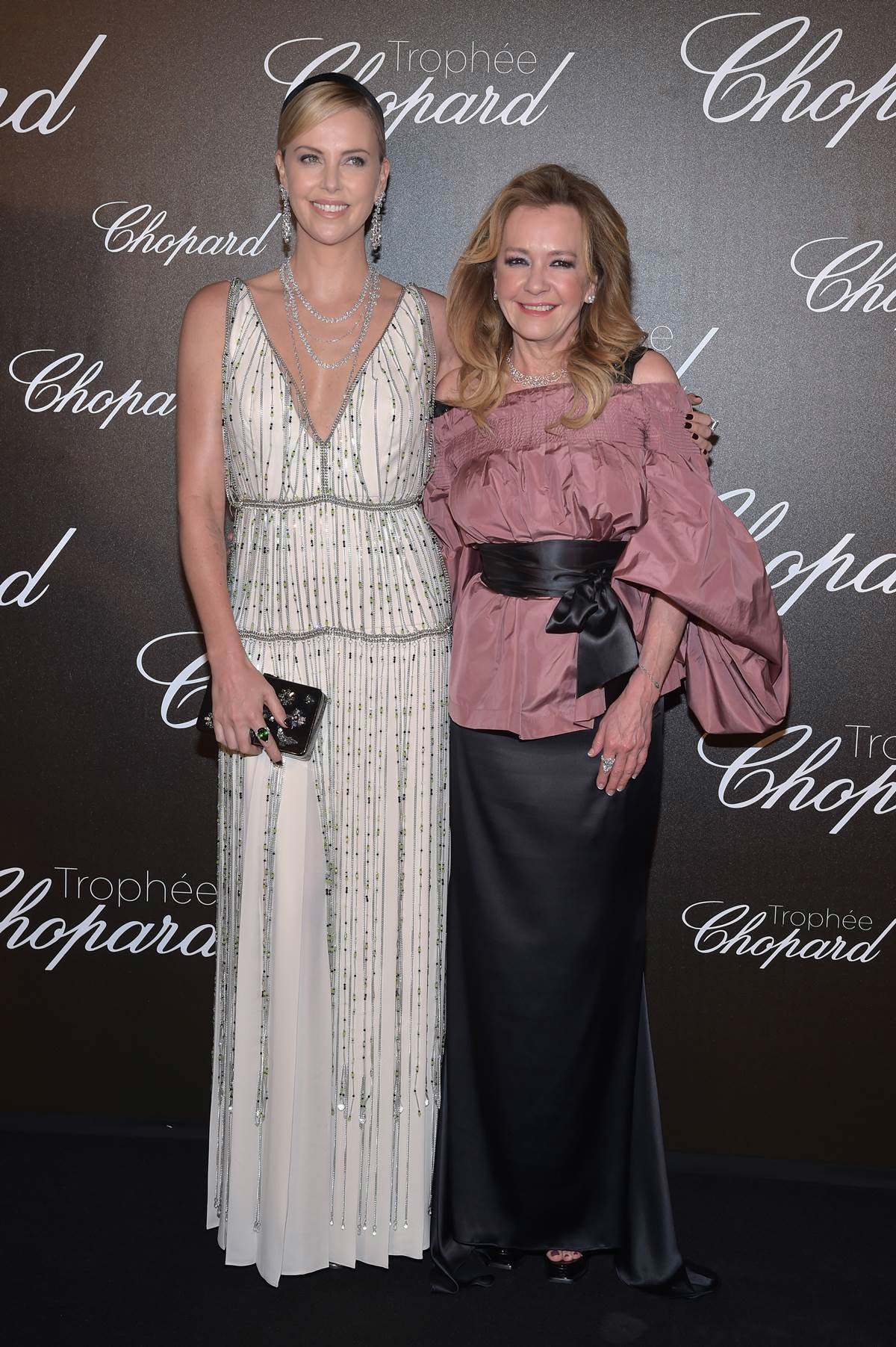 Cannes 2017 - Day 6 - Trophee Chopard - Chopard Co-President & Creative Director Caroline Scheufele and Charlize Theron