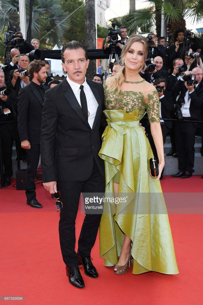 Cannes 2017 - Day 7 - 70th Anniversary Festival de Cannes - Antonio Banderas and Nicole Kimpel