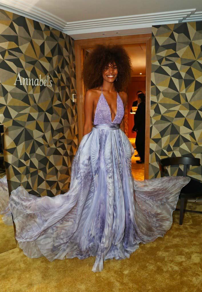Cannes 2017 - Day 8 - Chopard & Annabel's Gentleman Evening - Model Tina Kunakey