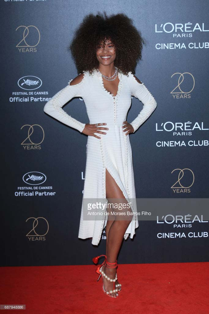 Cannes 2017 - Day 8 - L'Oreal 20th Anniversary Party - Model Tina Kunakey