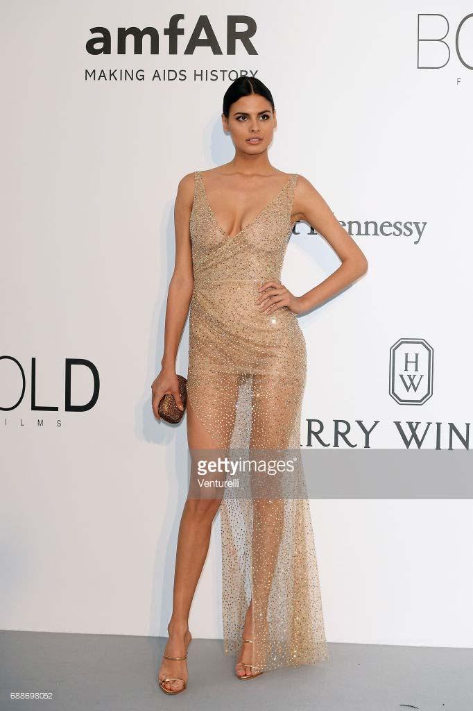 Cannes 2017 - Day 9 - AmfAR Gala - Model Bojana Krsmanovic