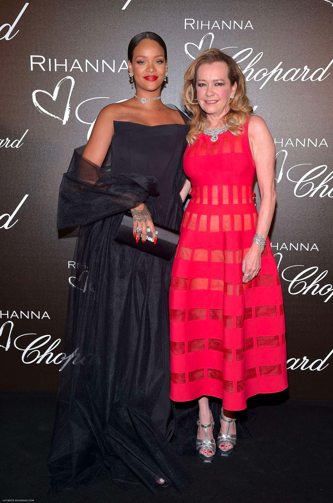 Cannes 2017 - Day 2 - Chopard & Rihanna dinner - Chopard Co-President & Creative Director Caroline Scheufele and Rihanna