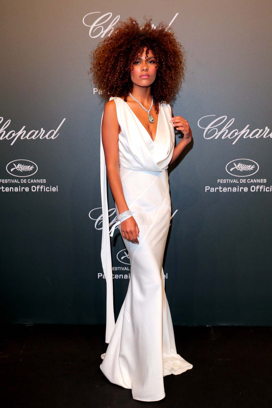 Cannes 2017 - Day 3 - Chopard SPACE Party - Model Tina Kunakey