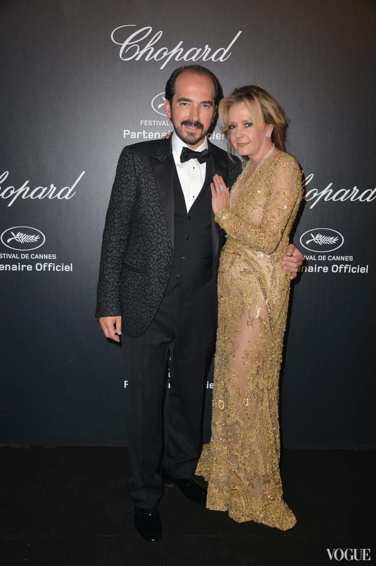 Cannes 2015 - Chopard Gold Party - Alexis Weller and Caroline Scheufele