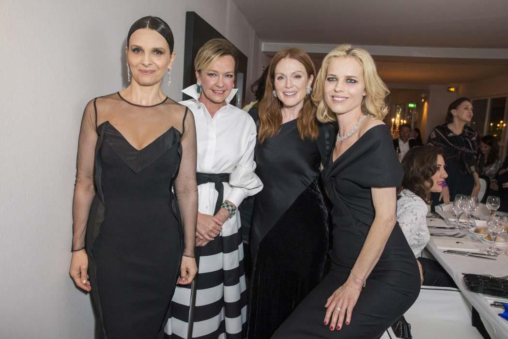 Cannes 2016 - Chopard - Caroline Scheufele, Juliette Binoche, Eva Herzigova, Julianne Moore