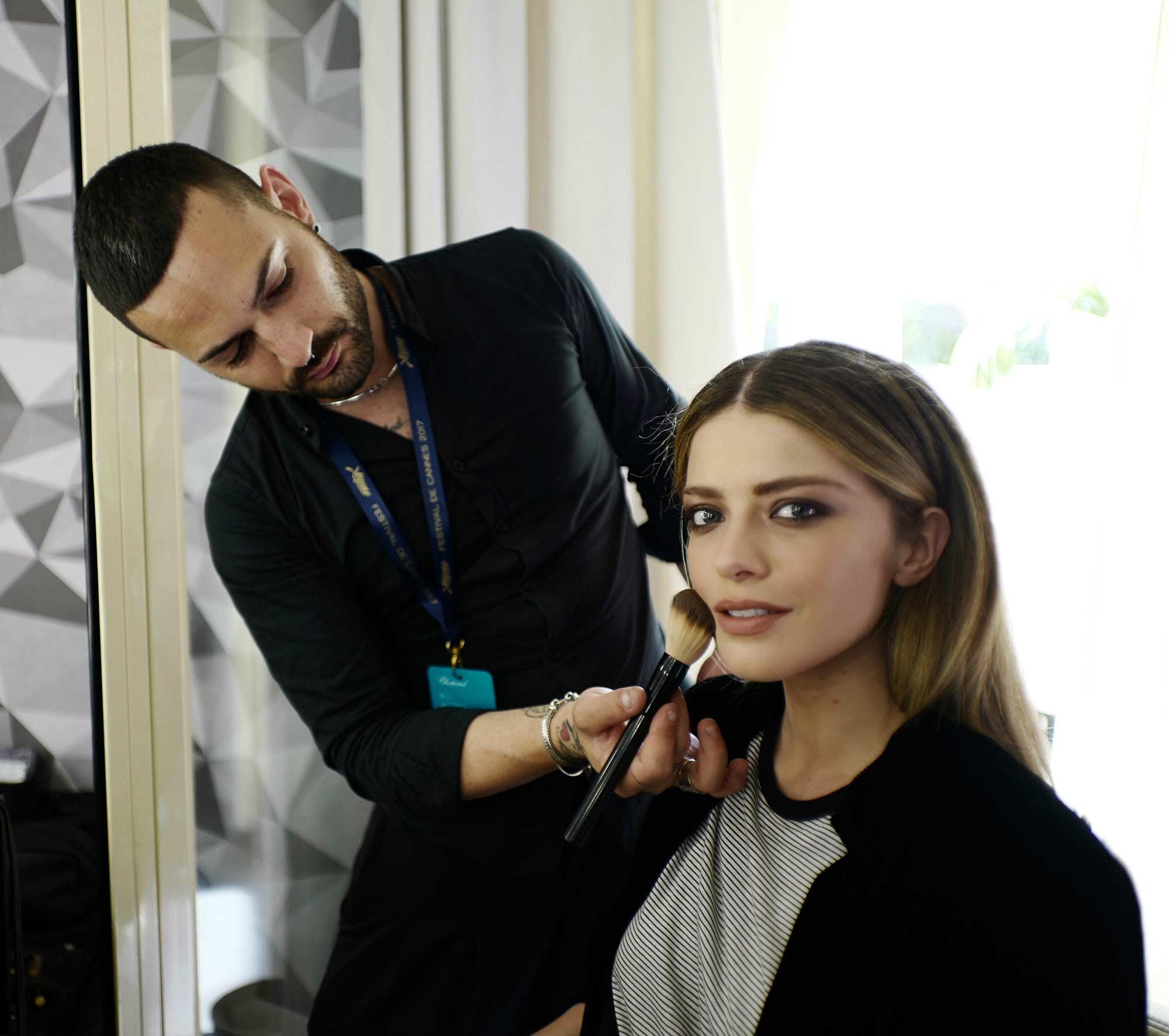 Cannes 2017 - Alexandra Dinu, make up Emanuele Romano