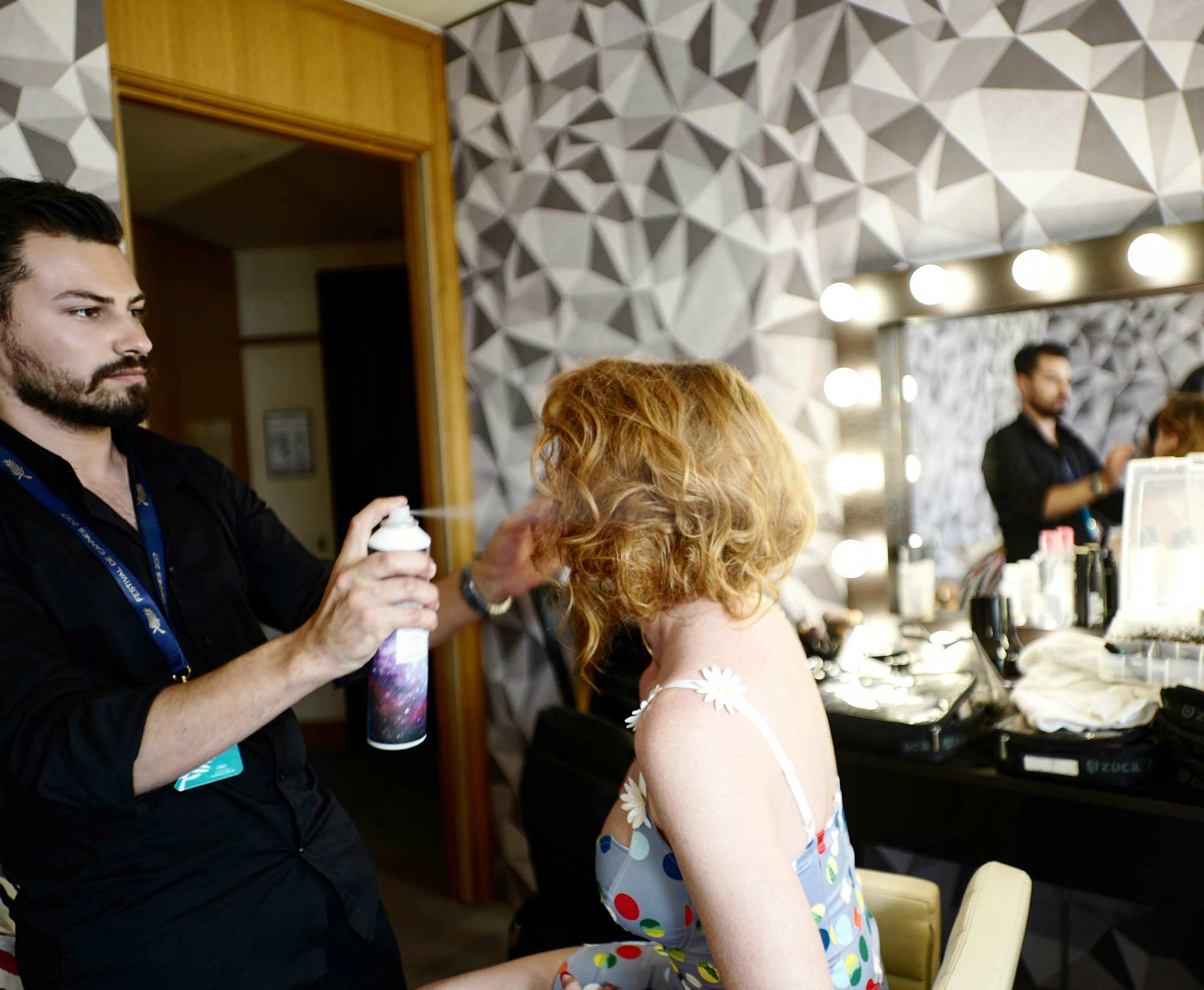 Cannes 2017 - Crazy Rouge, hair Luca De Bartolo