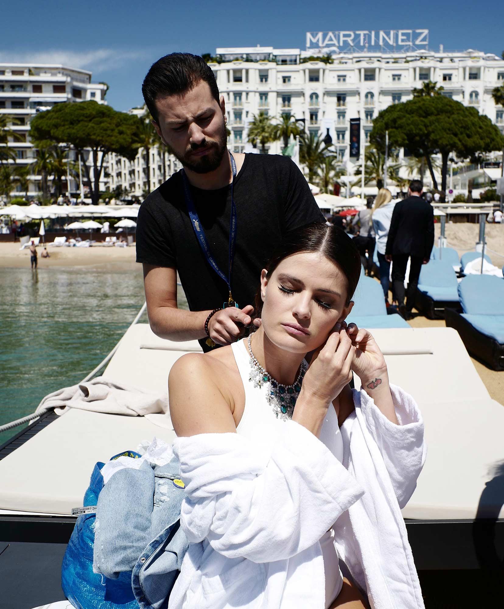 Cannes 2017 - Shooting Hola! - Isabeli Fontana, hair Luca De Bartolo
