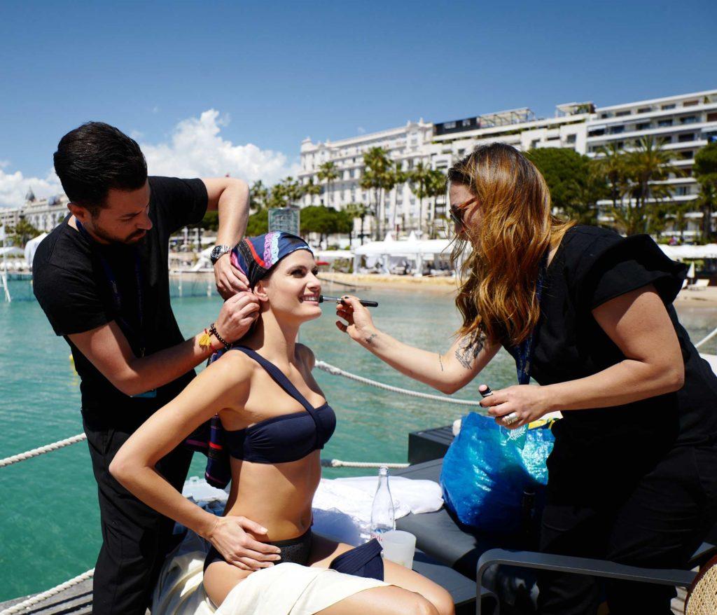 Cannes 2017 - Shooting Hola! - Isabeli Fontana, hair Luca De Bartolo, make up Emanuela Di Giammarco