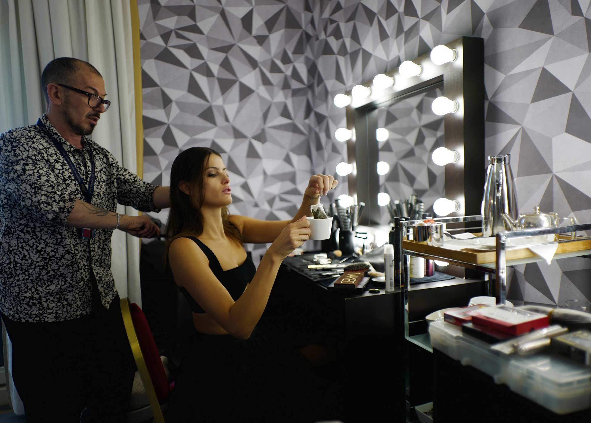 Cannes 2017 - Shooting Hola! - Isabeli Fontana, hair Massimo Serini