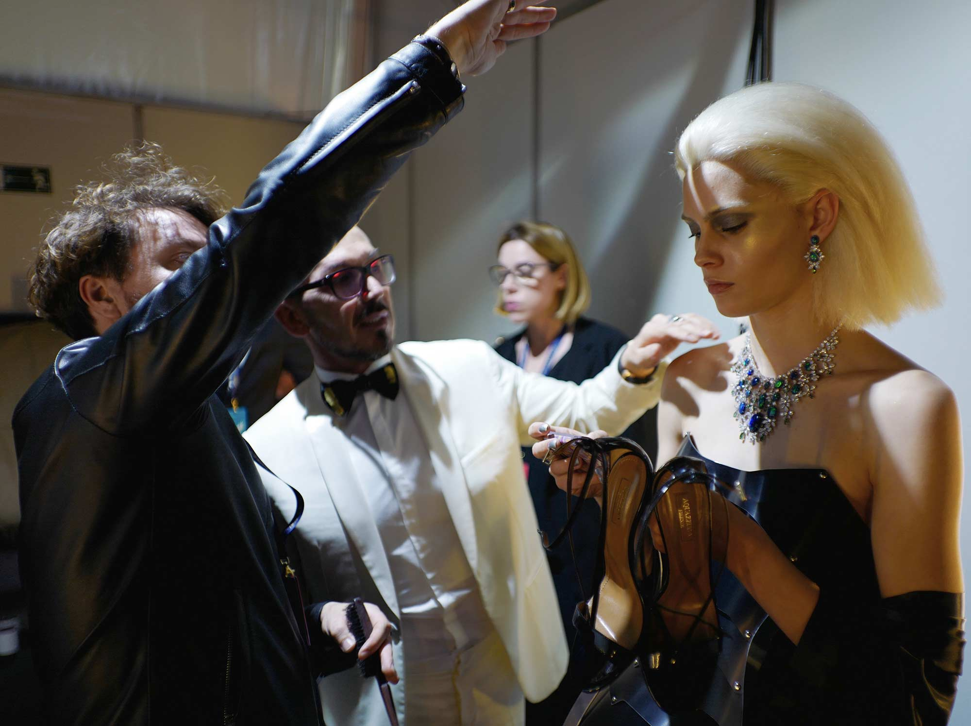 Cannes 2017 - Evento Space Chopard - Massimo Serini with model
