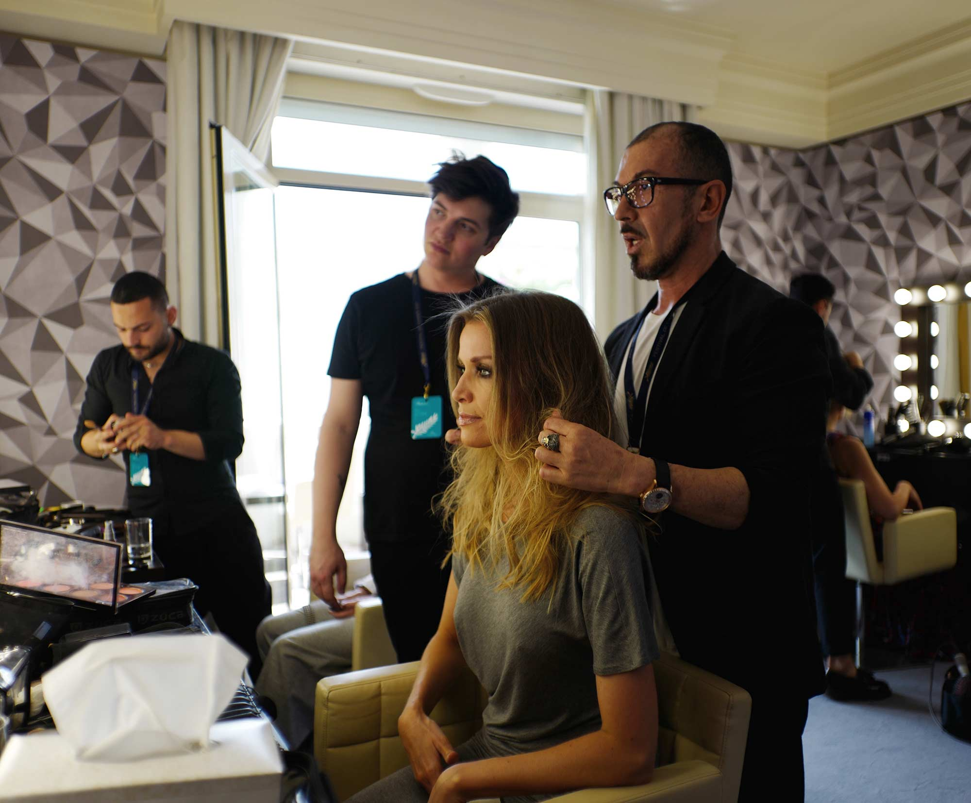 Cannes 2017 - Nicole Kimpel, hair Massimo Serini, make up Stanislao Iafulli
