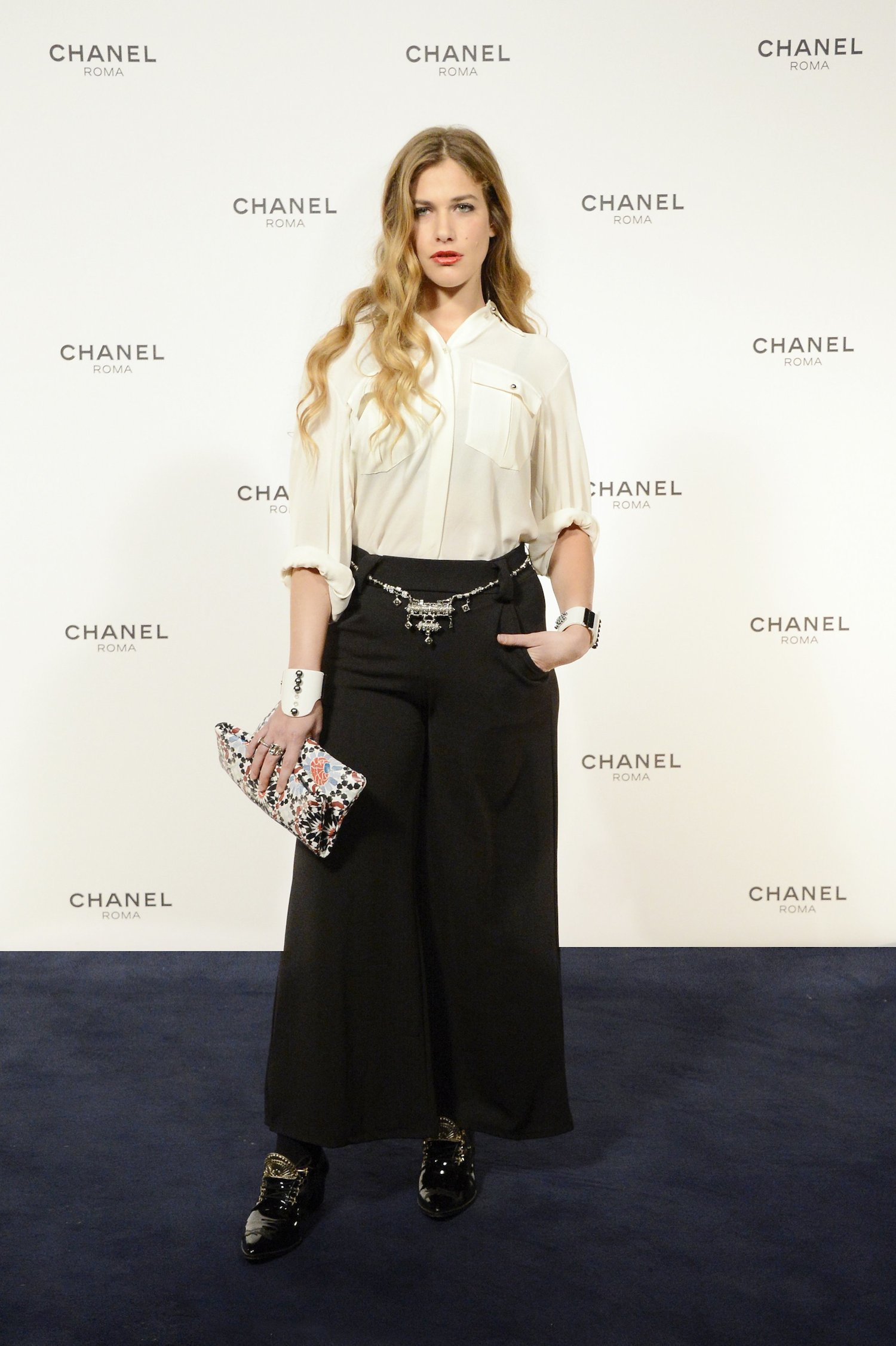 Chanel Rome Party Opening - Tea Falco