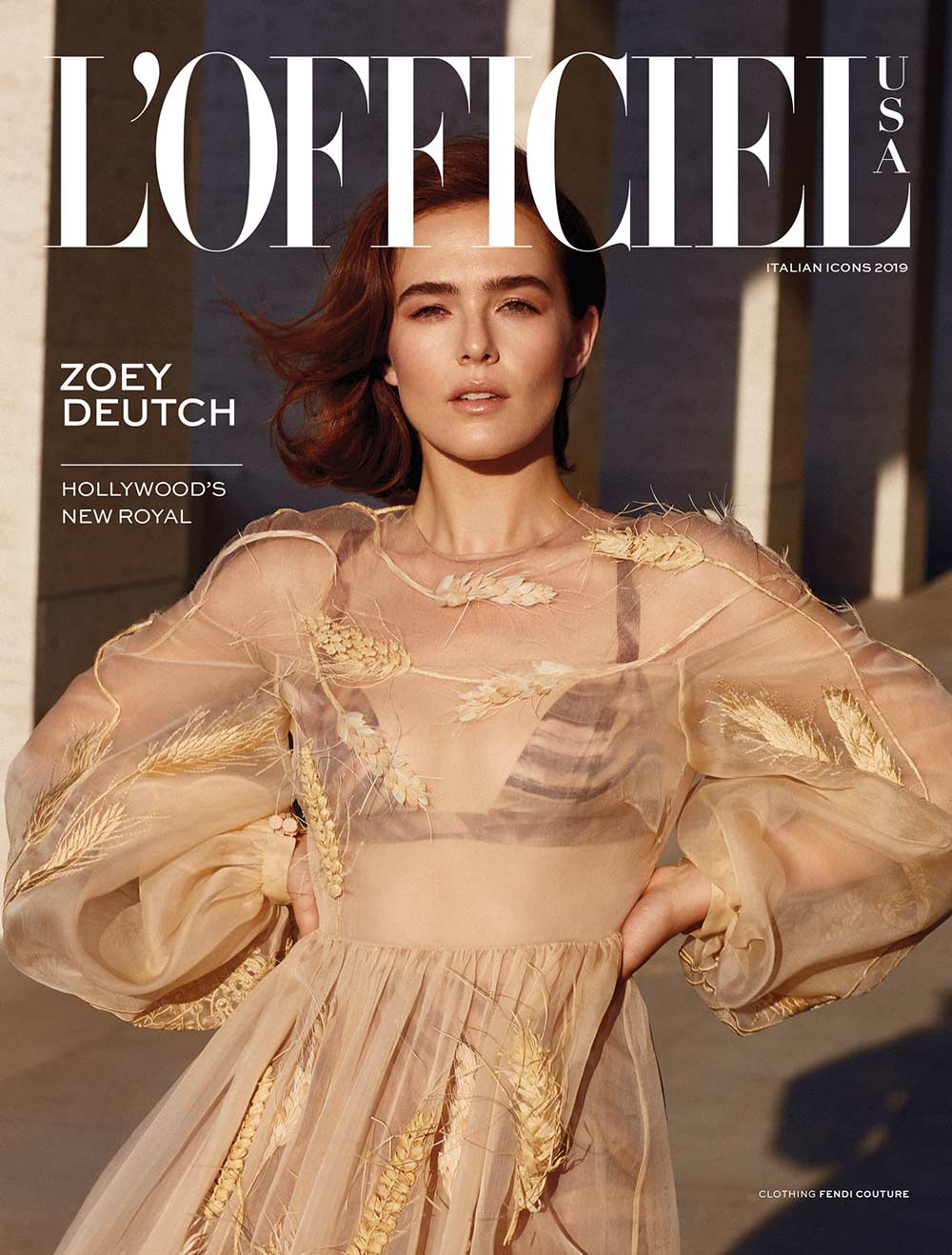 L'Officiel USA - Zoey Deutch - Hair Massimo Serini