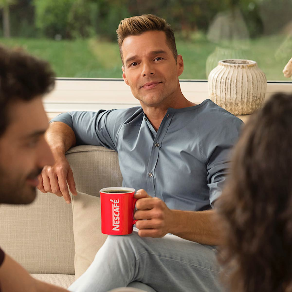 Nescafe advertising - Ricky Martin - Grooming Massimo Serini