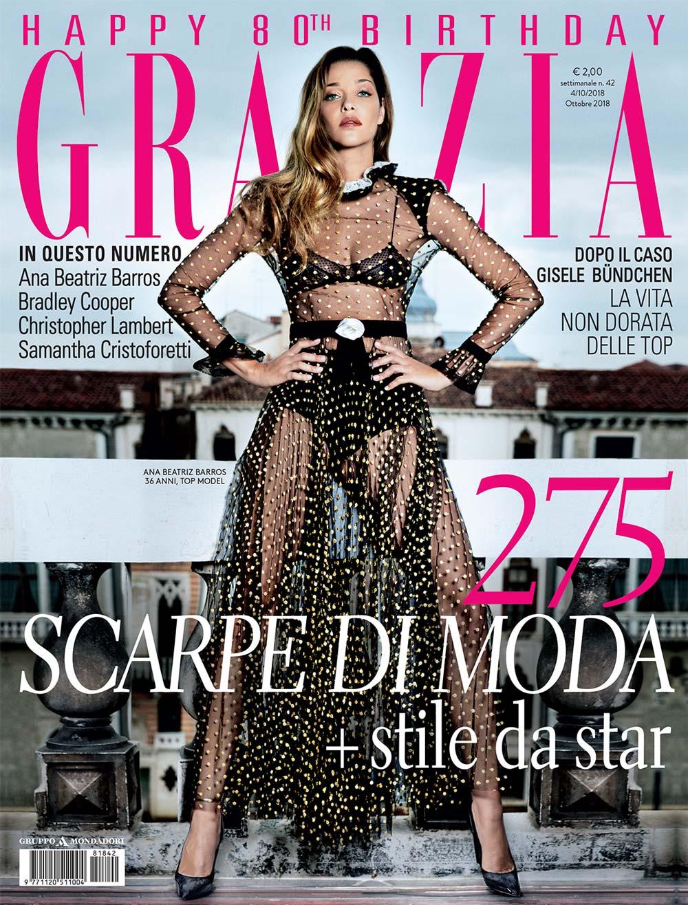 Grazia - Ottobre 2018 - Ana Beatriz Barros - Hair Massimo Serini - Makeup Luigi Rizzello per Massimo Serini