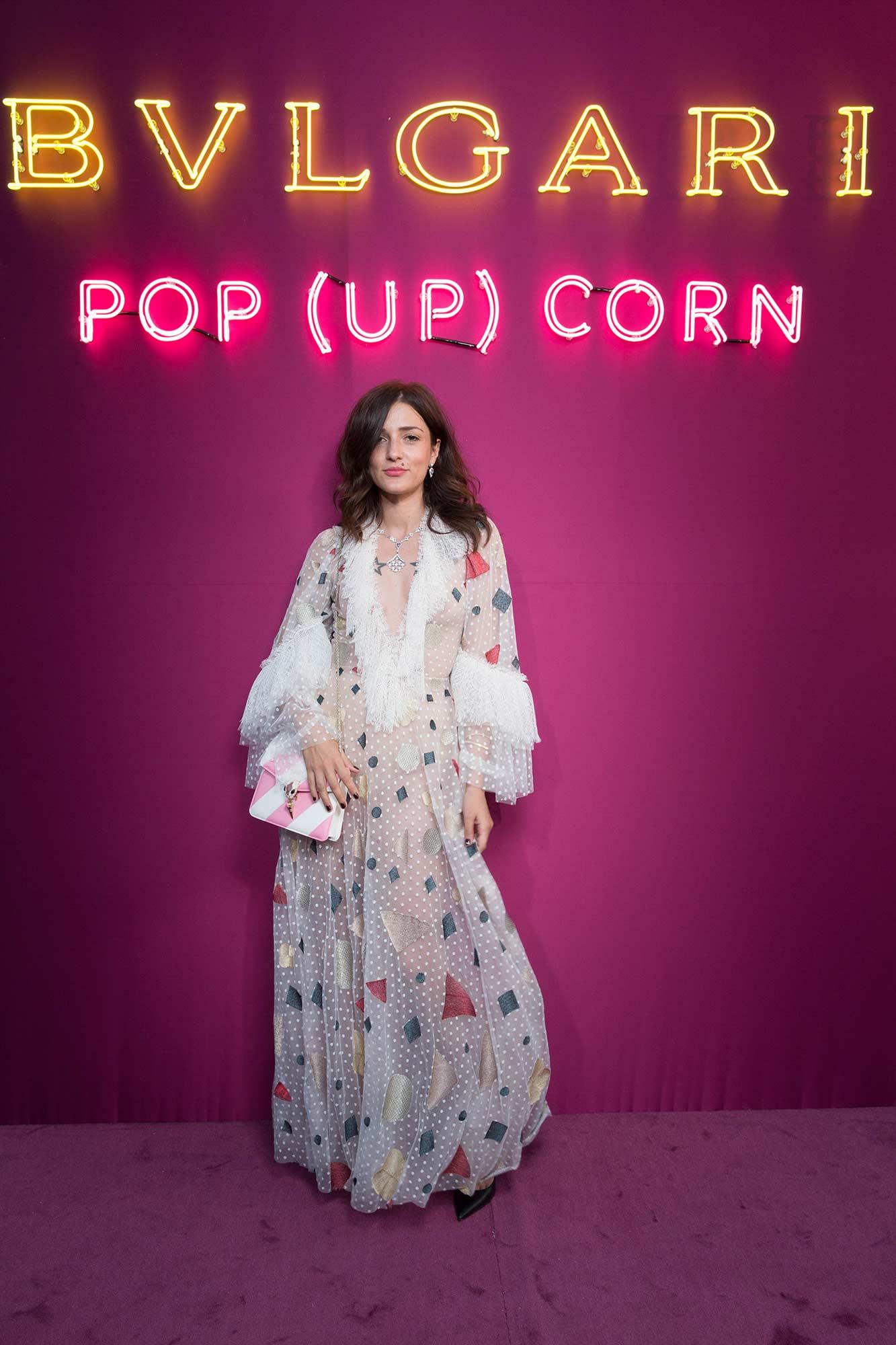 Bulgari - Pop-up store - Paris Galeries Lafayette - Eleonora Carisi - Hair & Makeup Massimo Serini