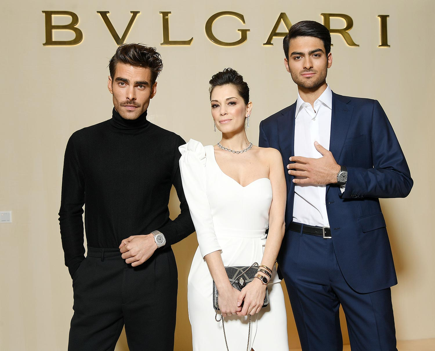 Bulgari Basel Press Party - Jon Kortajarena, Giorgia Surina, Matteo Bocelli - Hair & makeup Massimo Serini