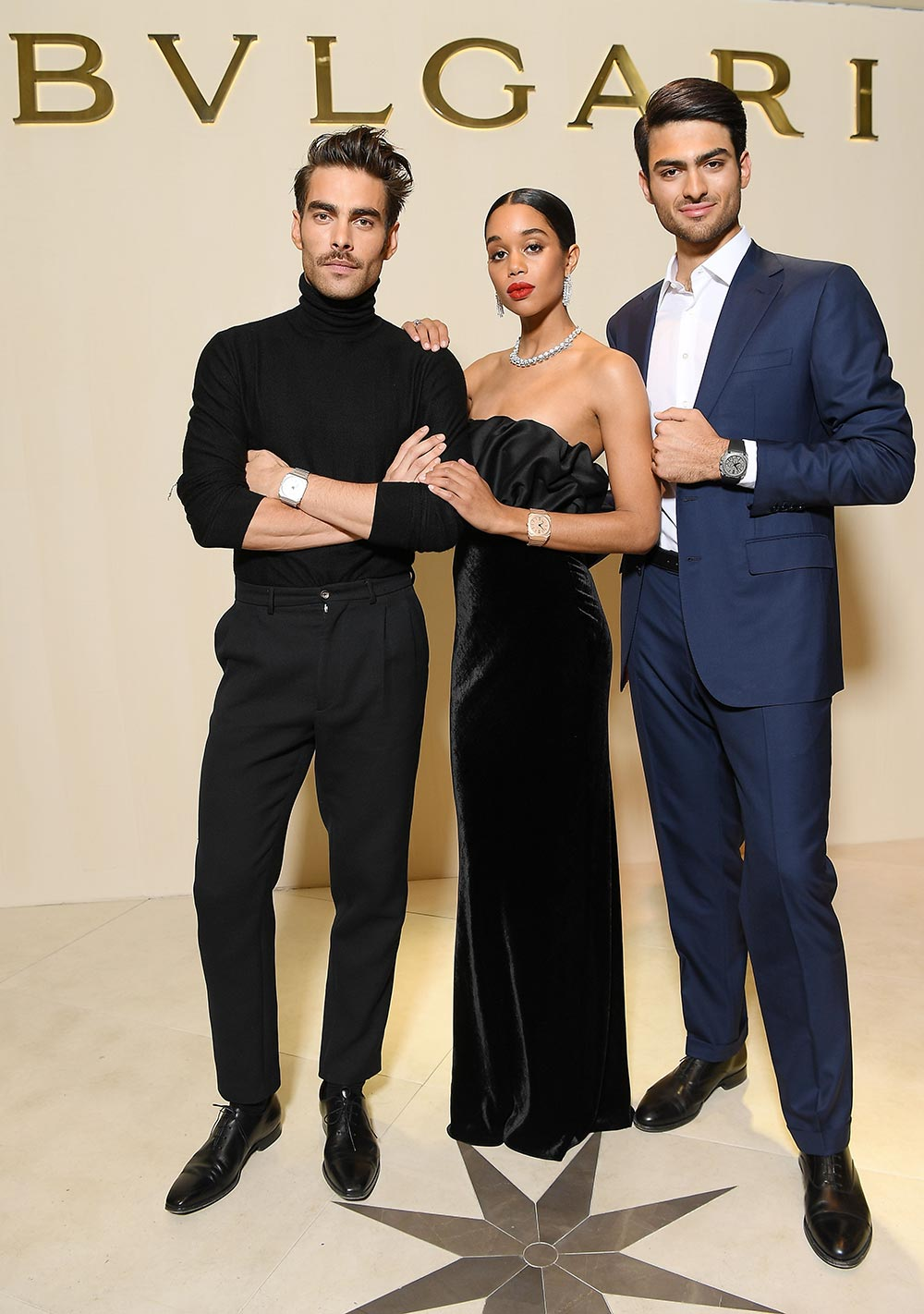 Bulgari Basel Press Party - Jon Kortajarena, Laura Harrier, Matteo Bocelli - Hair & makeup Massimo Serini