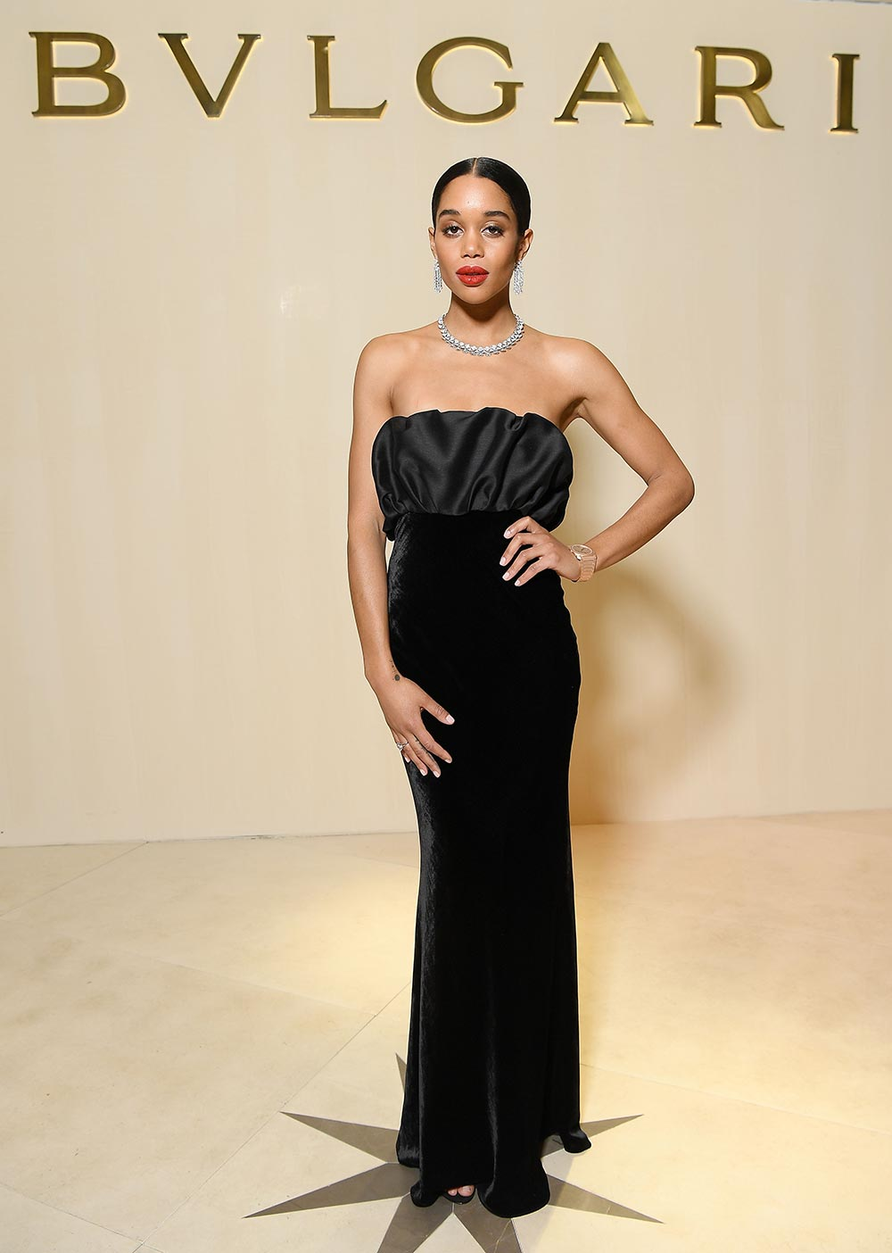 Bulgari Basel Press Party - Laura Harrier - Hair Massimo Serini - Makeup Luigi Rizzello per Massimo Serini