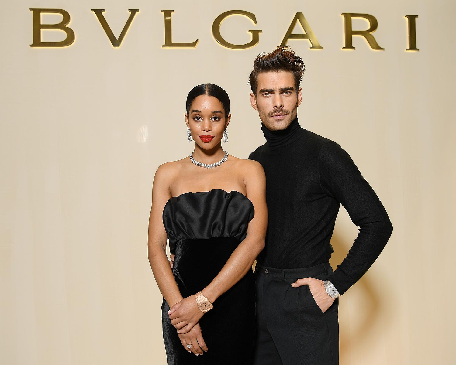 Bulgari Basel Press Party - Laura Harrier, Jon Kortajarena - Hair & makeup Massimo Serini