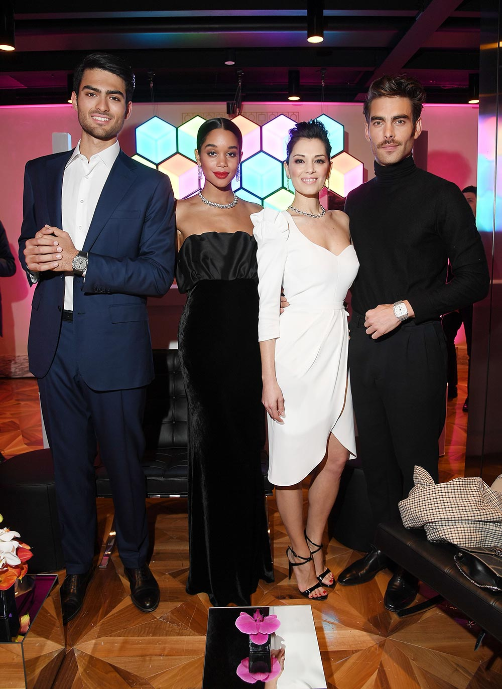 Bulgari Basel Press Party - Matteo Bocelli, Laura Harrier, Giorgia Surina, Jon Kortajarena - Hair & makeup Massimo Serini