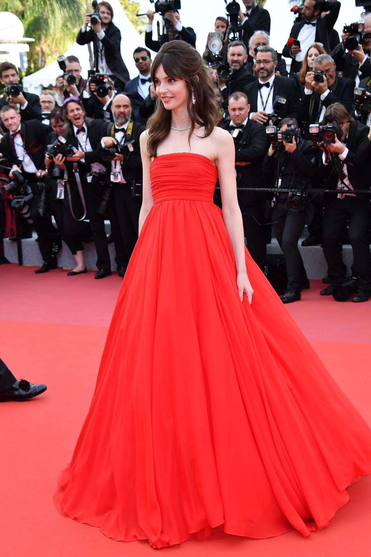 Cannes 2018 - Red carpet - Annabelle Belmondo - Hair and makeup Massimo Serini