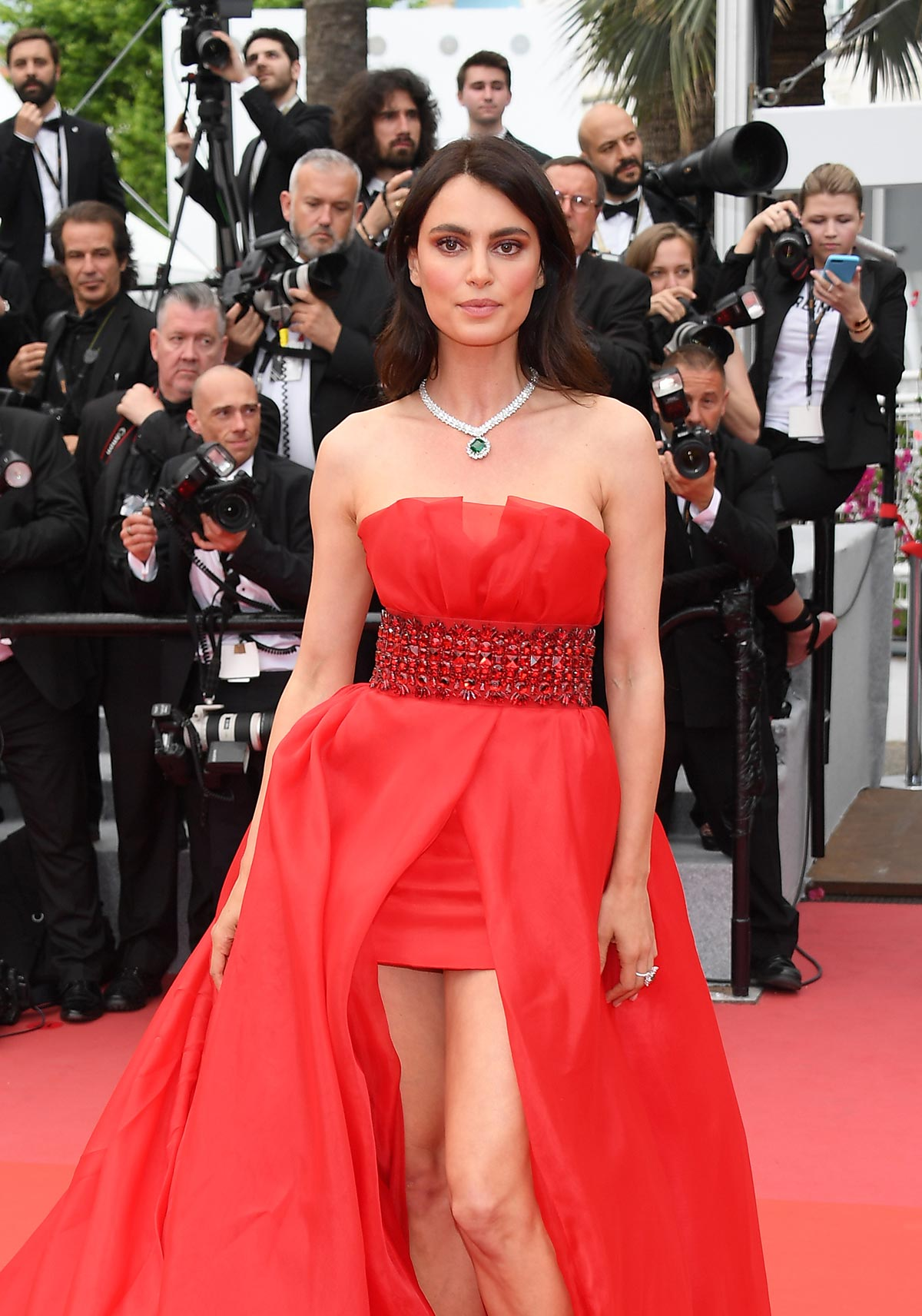 Cannes 2018 - Red carpet - Catrinel Marlon - Hair and makeup Massimo Serini