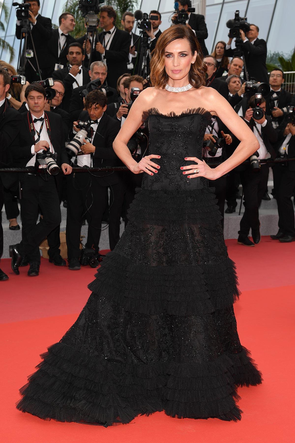 Cannes 2018 - Red carpet - Nieves Alvarez - Hair and makeup Luigi Rizzello per Massimo Serini