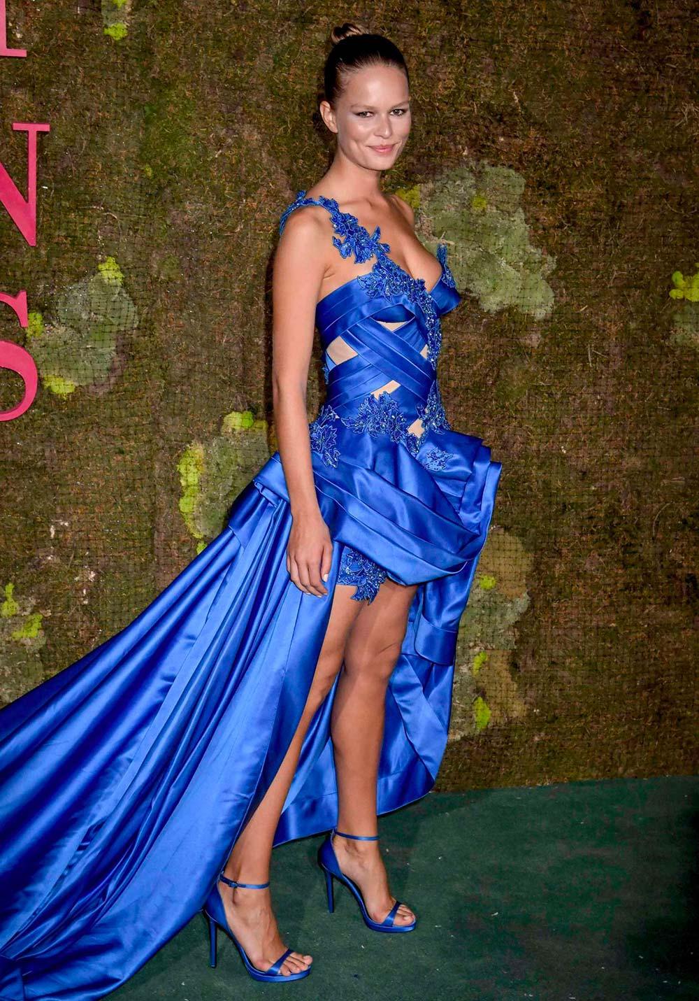Green Carpet Fashion Awards 2018 - Anna Ewers - Hair & Makeup Massimo Serini Team