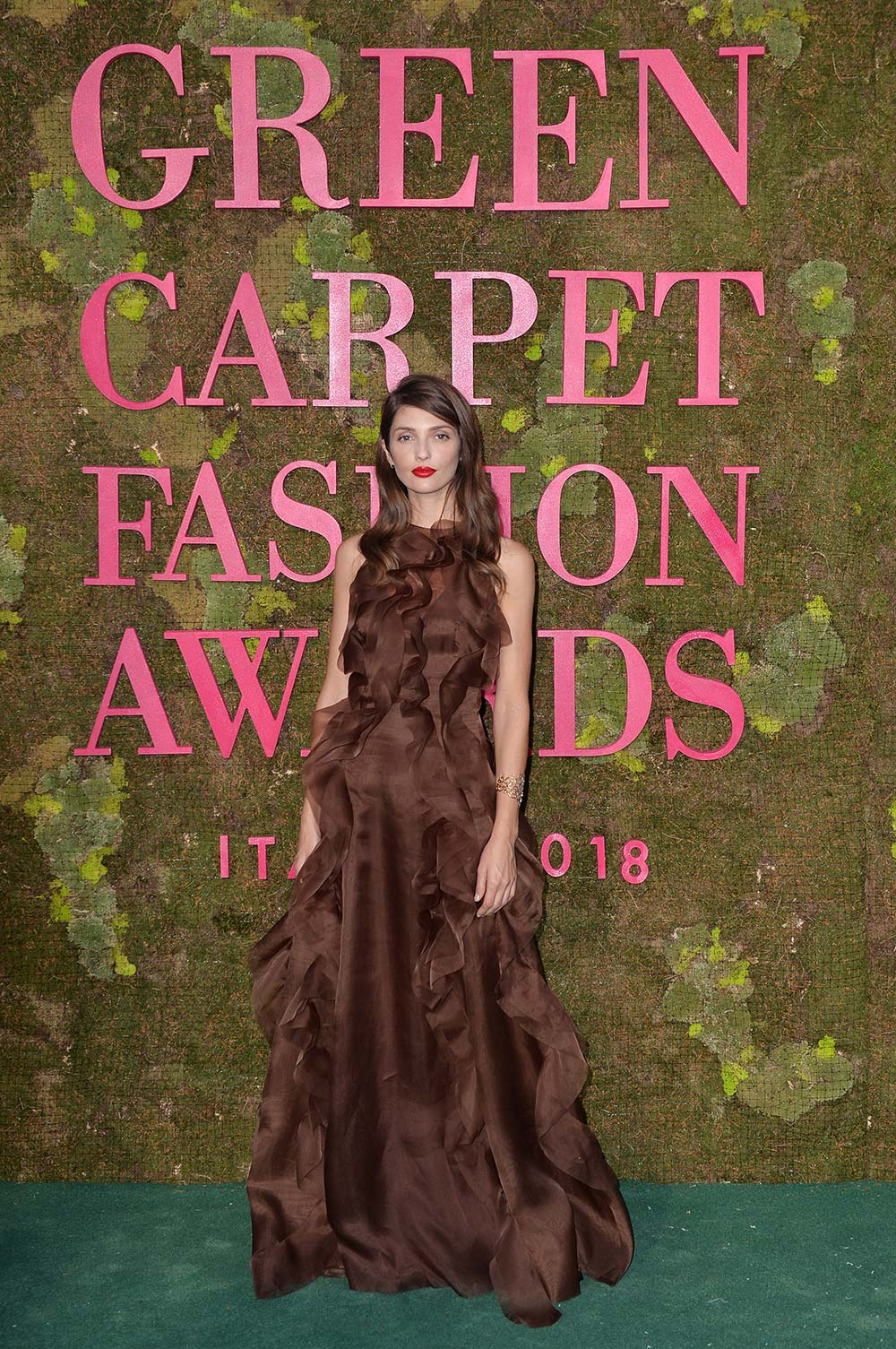 Green Carpet Fashion Awards 2018 - Annabelle Belmondo - Hair & Makeup Massimo Serini Team