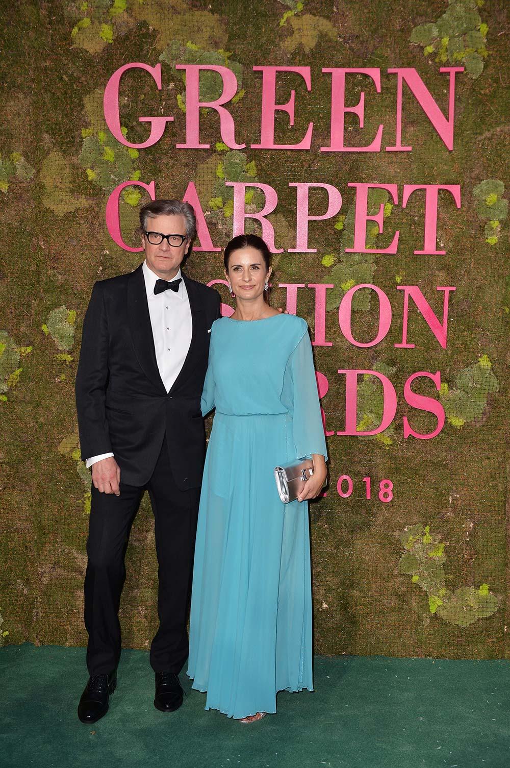 Green Carpet Fashion Awards 2018 - Livia and Colin Firth - Hair Massimo Serini - Makeup Emanuela Di Giammarco