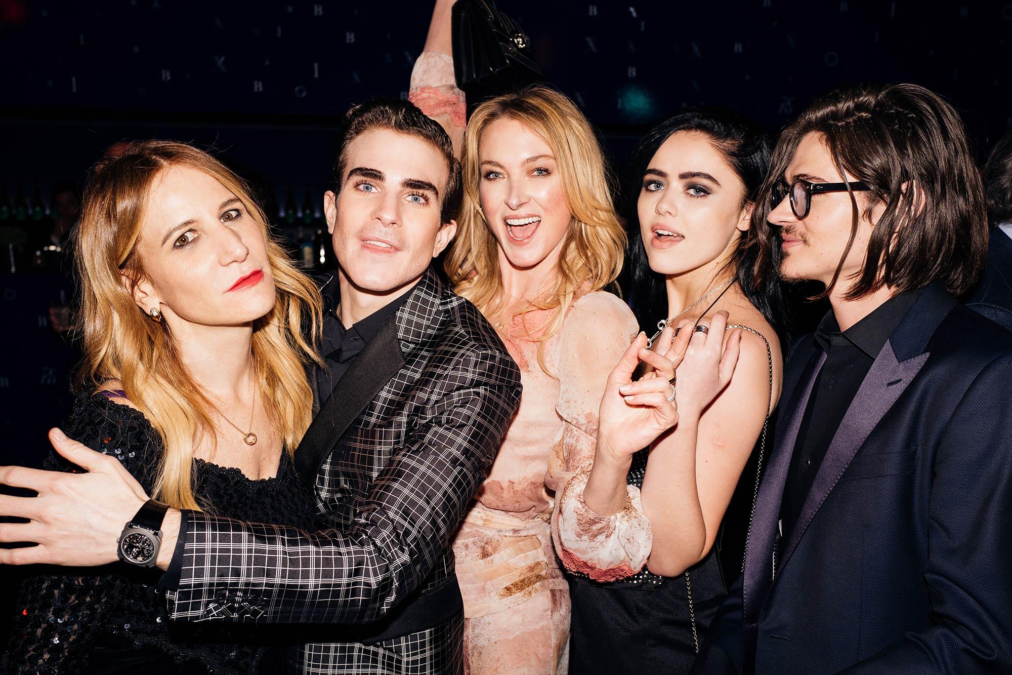 Bulgari Party B.zero1 - Lilly de Wittgenstein, Elisabetta Marra, Will Peltz, Carlo Sestini - Hair & Makeup Massimo Serini Team