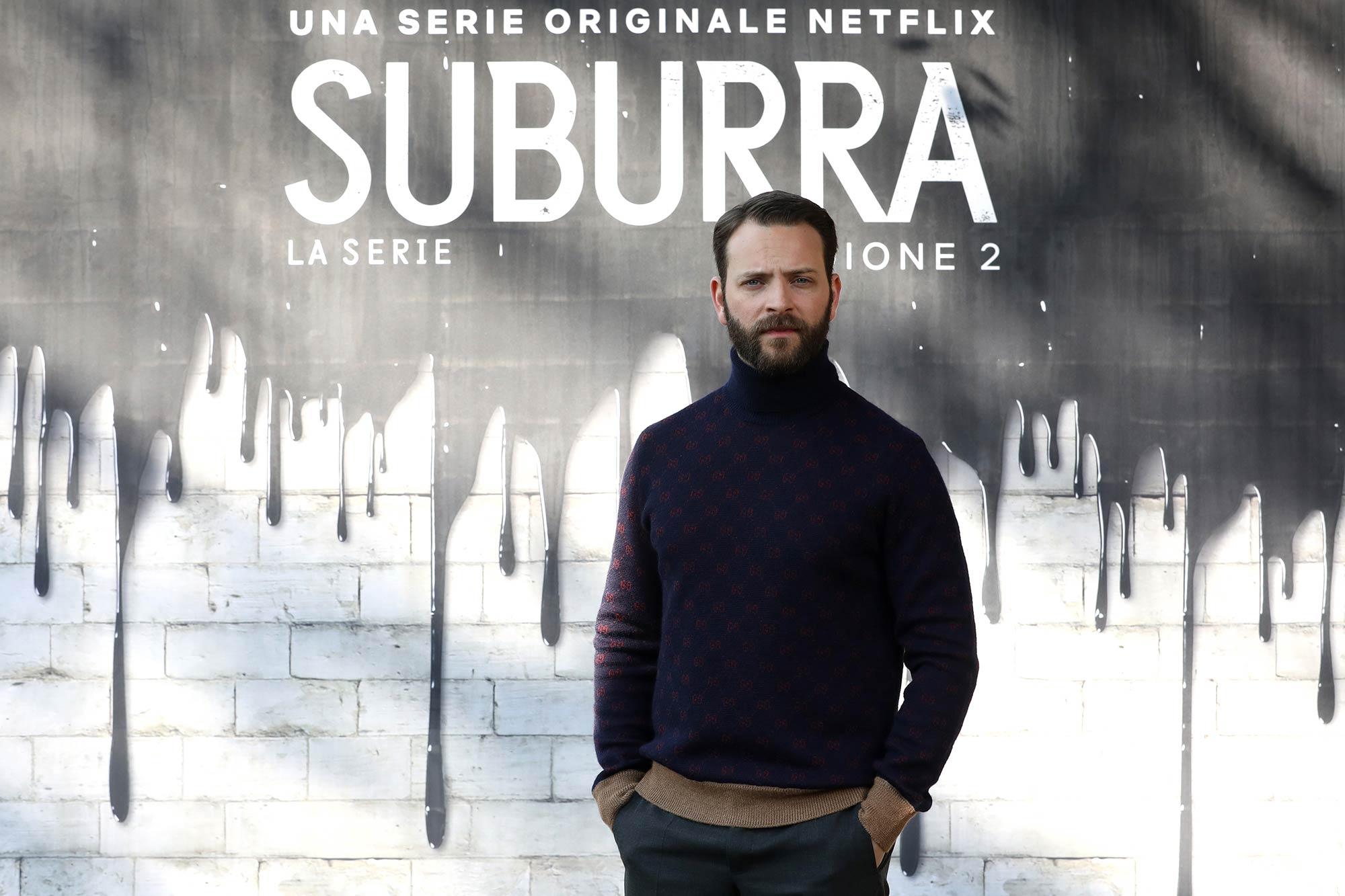 Netflix Premiere Suburra 2 - Alessandro Borghi - Grooming Massimo Serini Team