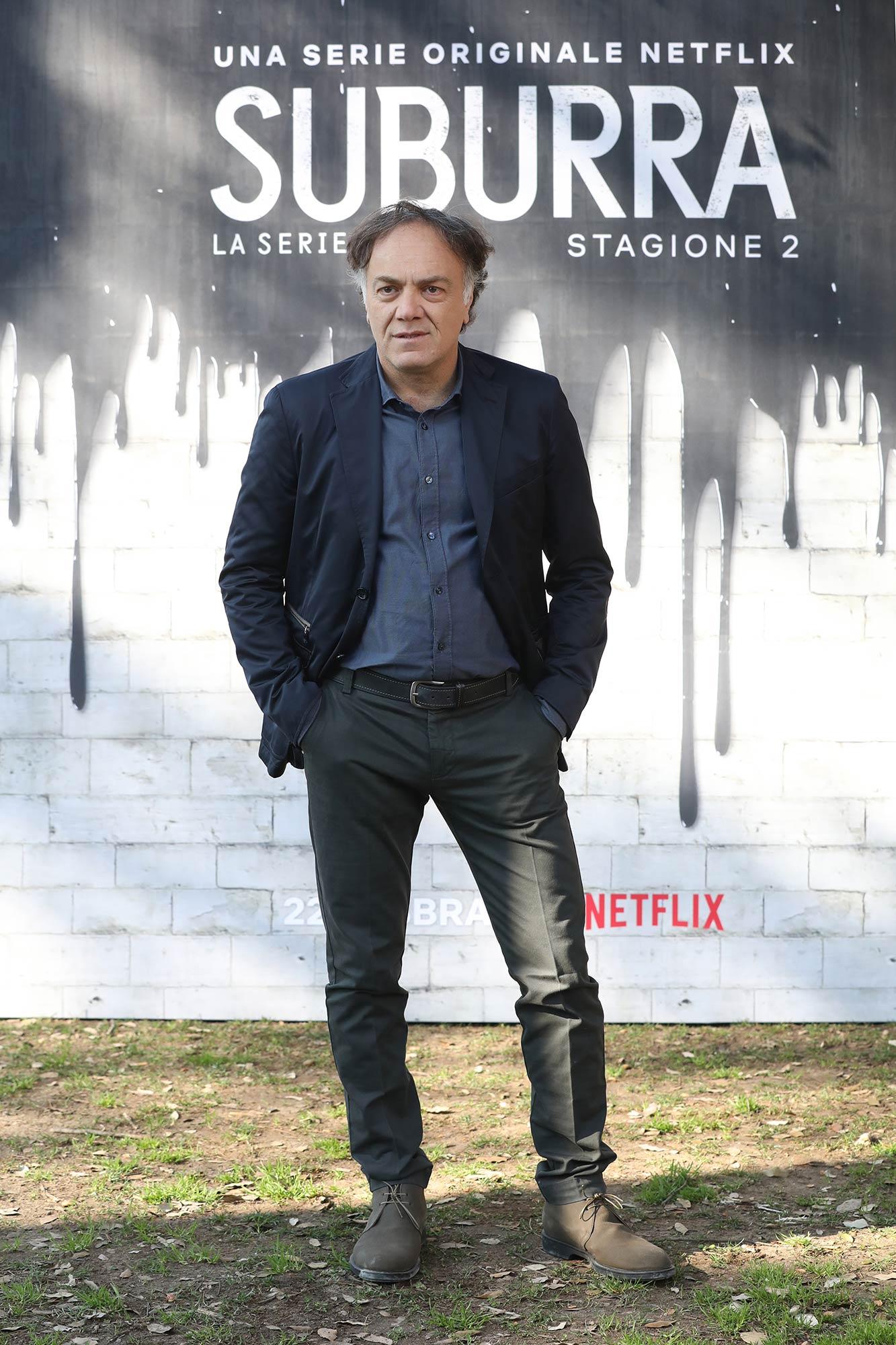 Netflix Premiere Suburra 2 - Francesco Acquaroli - Grooming Massimo Serini Team