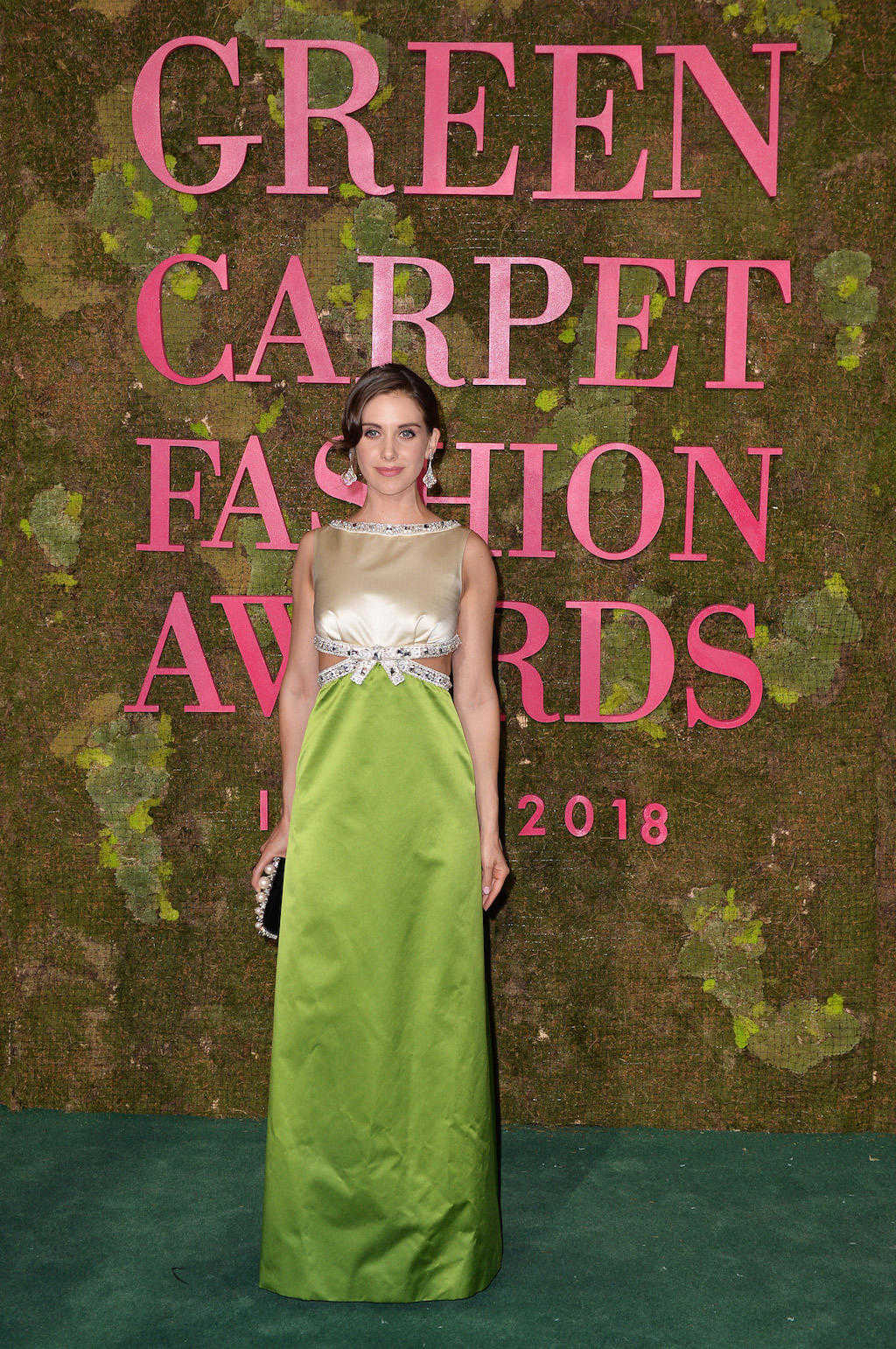 Green Carpet Awards 2018 - Alison Brie - Hair and Make Up by Massimo Serini