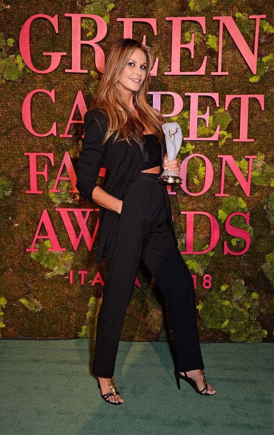 Green Carpet Fashion Awards 2018 - Elle Macpherson - Hair and Make Up by Massimo Serini