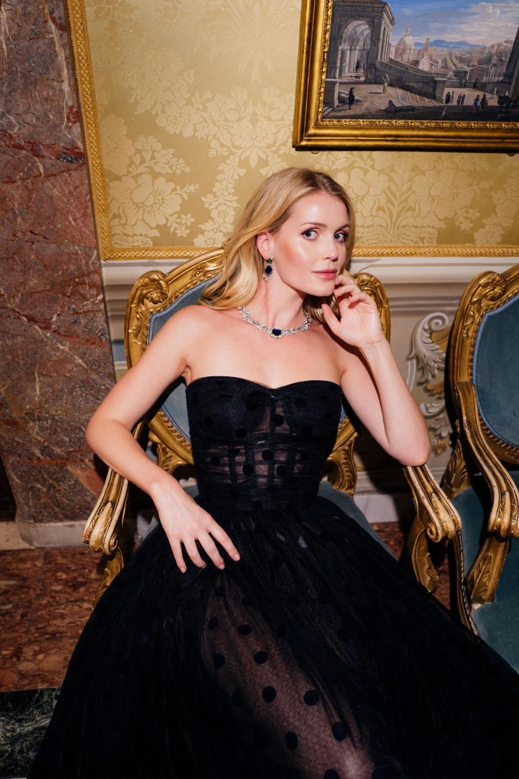 Kitty Spencer - hair Massimo Serini - makeup Elisa Rampi - Bulgari Barocko 2020