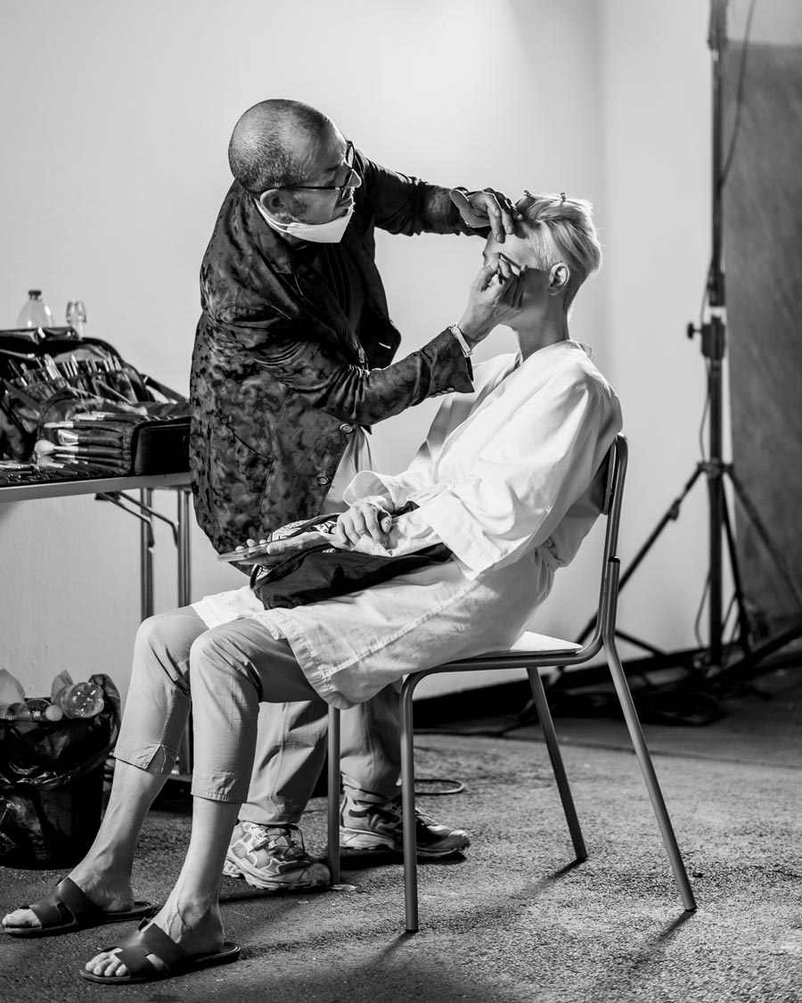 Embodying Pasolini: Hair and Make Up for Tilda Swinton by Massimo Serini - photo: Ruediger Glatz // THE NEW BLACK